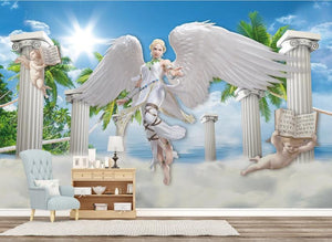 Wallpaper 3D Modern Custom Dream angel beauty 3D Wallpaper For Living Room Bedroom Bar KTV 3D Mural Home Improvement