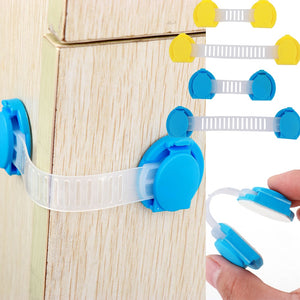 5pcs/set Baby Safety Cabinet Lock Strap Child Lock Child Safety Protection Children Wardrobe Safety Lock Child Proof Blocker