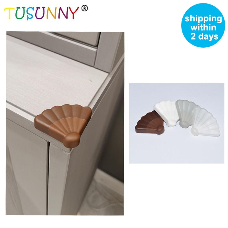 8Pcs adhesive decoration plastic baby safety corner protector baby proof furniture foam table protection corner protector