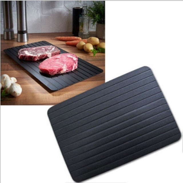 Thaw Master Home Use Fast Defrosting Tray Thaw Food Meat Fruit Quick Defrosting Plate Board defrost tray kitchen tools