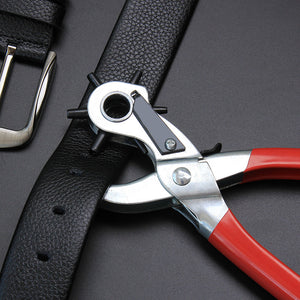 Leather Belt Hole Punch Plier Eyelet Puncher Revolve Setter Tool Watchband Strap Household leather-craft