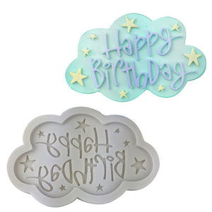 New Happy Birthdays Shape Silicone Soap Mold DIY for Chocolate Form Fondant Soap Moulds Cake Decorating Handmade Soap Making