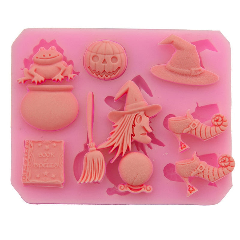All Halloween Day Soap Mold 3D Silicone Cake Decorating Pumpkin Day Decoration Diy Soap Making Chocolate Sugarcraft