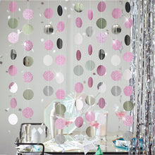 Load image into Gallery viewer, Party Decor 4m Mirror Paper Star Round Garland Flash Banner Happy Birthday Decoration Adult Boy Girl Baby Shower Curtain Decor Wedding DIY