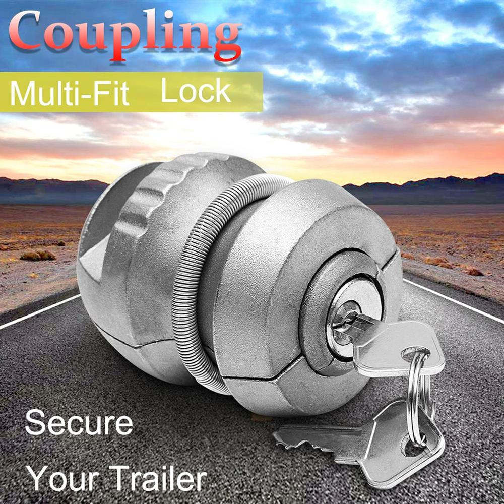 Durable Portable Universal Truck Hitchlock Trailer Hitch Coupling Lock Tow Ball Lock Caravan Lock Auto Trailer Hitch