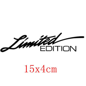 3D laser LIMITED EDITION Creative Vinyl Stickers and Decals Window Sticker Car-styling Decal