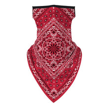Load image into Gallery viewer, Bandanna Print Seamless Scarf Ear Hook Sports Scarf Neck Tube Face Dust Riding UV Protection Neck Gaiter Scarf