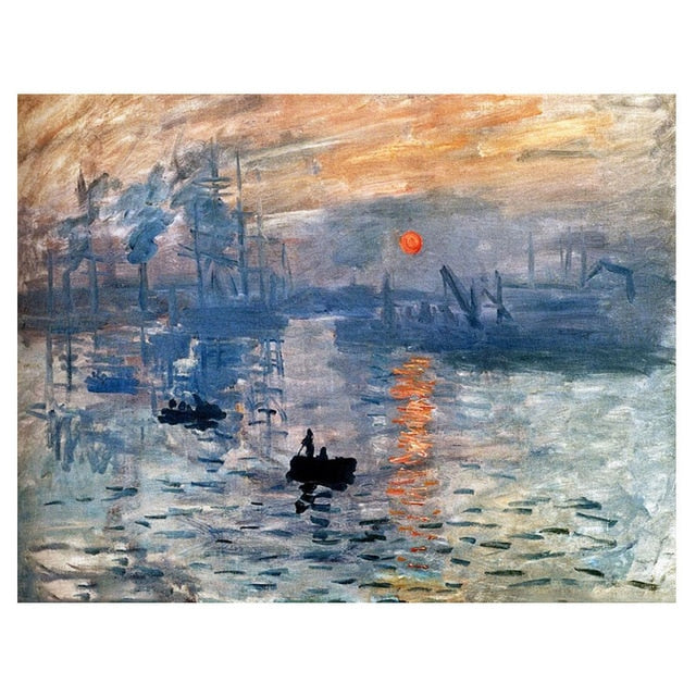 Famous Monet Painting Diamond Arts Painting Kit DIY Full Drill Select Square Round Diamonds Crafts Embroidery Rhinestone Painting Home Decoration