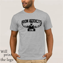 Load image into Gallery viewer, IRON ADDICTS GYM T SHIRT CT FLETCHER MIKE RASHID - WHITE Cool Casual t shirt men Unisex Fashion tshirt funny tops