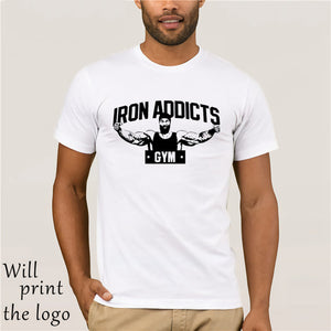 IRON ADDICTS GYM T SHIRT CT FLETCHER MIKE RASHID - WHITE Cool Casual t shirt men Unisex Fashion tshirt funny tops
