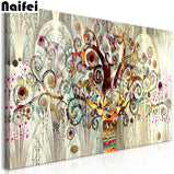 Wide-panel Abstract Tree of Life 5D Crystal Paintings Decorative DIY Home Decoration Round Square Diamonds Do It Yourself Art Project Relaxation Therapy
