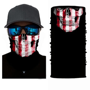 Tube 3D Printed Face Coving Unisex Seamless Balaclava Scarf Headwear Sports Bandanas Men Cycling Hiking Scarf Neck Gaiter