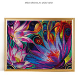 Abstract Mosaic Flower Diamond Painting Kit Full AB Drills Kits for Kids Adults DIY Mosaic Cross Stitch Pattern Handmade Embroidery Kits Wall Décor