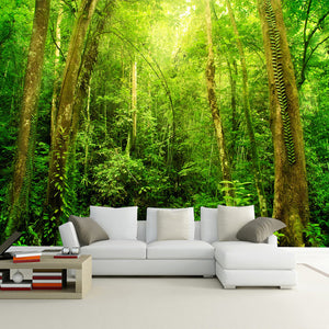 3D Natural Scenery Large Wall Mural Forest Photo Wallpaper Living Room Mural Landscape Home Improvement Customized Wall Paper