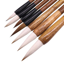 Load image into Gallery viewer, 7pcs/lot Painting Supplies Calligraphy Brushes Practice Paintings Writing Brushes Multifunction Pen Gift Pen Student Stationery