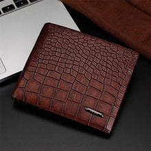 Load image into Gallery viewer, Mens Wallets Crocodile Patterns money Purse Billetera Purse for Men  Leather Wallet Card Slot