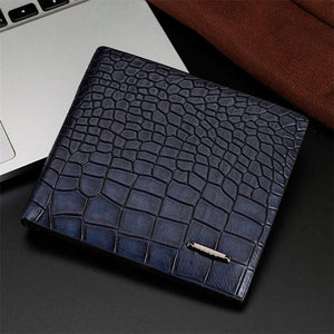 Mens Wallets Crocodile Patterns money Purse Billetera Purse for Men  Leather Wallet Card Slot