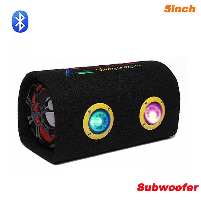 12V 220V Car Audio  Active Subwoofer Motorcycle Bluetooth Speaker Box 5 inch HiFi  KTV Home Computer Bass Speakers Bass