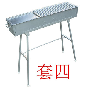 Barbecue tools BBQ roasted barbecue stove thick charcoal 80 long 18 wide lamb skewers commercial barbecue grill BBQ
