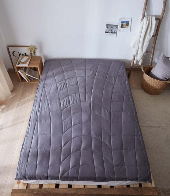 Weighted Blanket Aid Sleep Decompression Gravity Quilt Great Sleep Therapy for People with Anxiety,Autism,Stress Improving Sleep