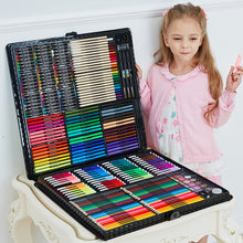 Load image into Gallery viewer, 168/288pcs Art Set Painting Watercolor Drawing Tools Art Marker Brush Pen Supplies Kids For Gift Box Office Stationery