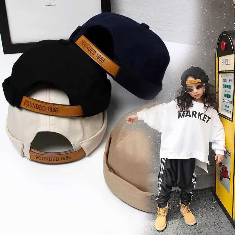Children's landlord hat 2018 new fashion hip hop joint personality flawless hat
