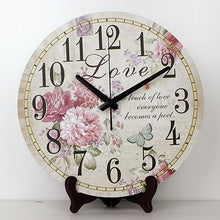 Load image into Gallery viewer, wholesale 12'' vintage decorative table clocks more quiet waterproof clock face fashion home decor table watch weeding gift