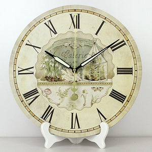 wholesale 12'' vintage decorative table clocks more quiet waterproof clock face fashion home decor table watch weeding gift