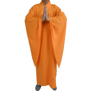 Shaolin Buddhist Monk Dress Meditation Haiqing Robe Kung fu Suit Men's Costumes