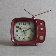 Load image into Gallery viewer, Super Silent Desk Alarm Clock Retro Design TV Television Clock Metal Vintage Style Classic Xmas Gift
