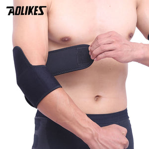 AOLIKES 1Pair Adjustable Sports Elbow Support Basketball Tennis Elbow Pads Volleyball Elbow Support Guards Pads Arm Sleeve