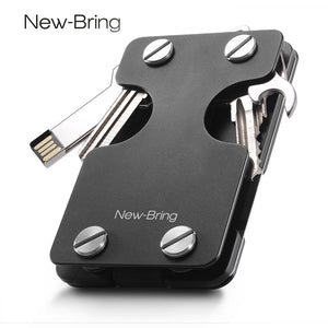 Money Clip Wallet Multi-functional Metal ID Card Holder Money Holder With Bottle Opener Anti-theft Card Wallet