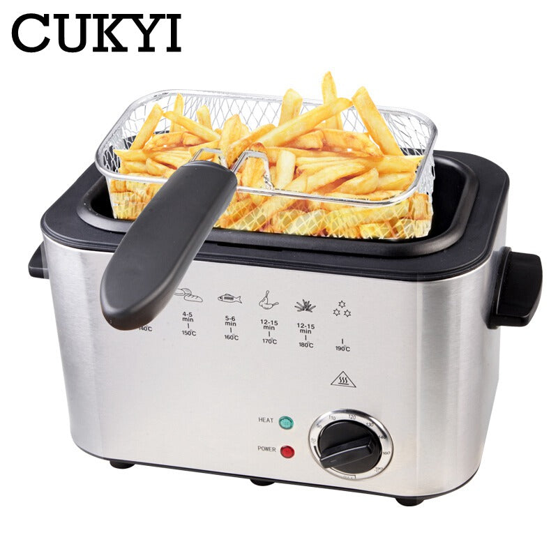 220V 1200W multi-functional household Deep fryer Constant temperature electric frying machine smokeless commercial