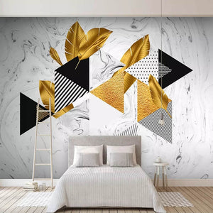 Custom 3D Photo Wallpaper Gold Geometric Lines Abstract Art Wall Painting Home Improvement Living Room TV Sofa Background Mural