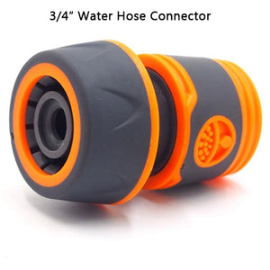 "Garden Sprinkle 1/2"" or 3/4"" Water Hose Connector Pipe Adaptor Tap Hose Pipe Fitting Set Quick connector with Rubber Material"