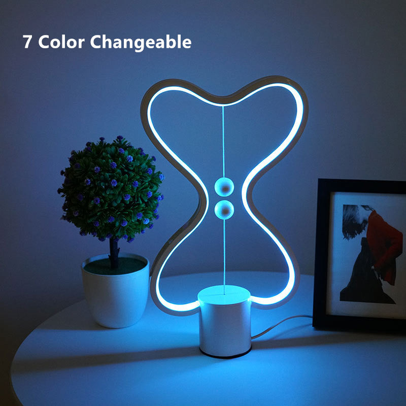 7 Color Changeable Heng Balance Lamp USB Powered home Decor Bedroom Office Kids lava lamp Children Gift Christmas Night lamp