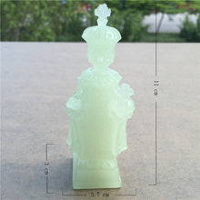 Load image into Gallery viewer, Glowing Madonna And Child Figurines Man-made Jade Stone Virgin Mary Jesus Statues Christmas Decorations For Home Christmas Gift