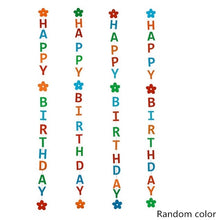 Load image into Gallery viewer, Multi-color DIY Decoration Happy Birthday Bunting Balloon hanging decoration Wedding Love Banner Garland Kids Birthday Party