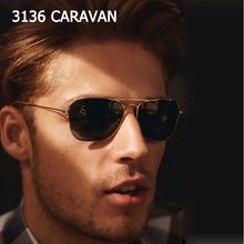 Load image into Gallery viewer, Fashion Vintage 3136 CARAVAN Aviation Style Sunglasses Classic Men Women Driving Fishing Sun Glasses