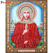 Load image into Gallery viewer, 5D Diamond Embroidery Icon Resin Diamond With Picture Mosaic Diy Special 5D Diamond Painting Religious Decor Home 22x28CM
