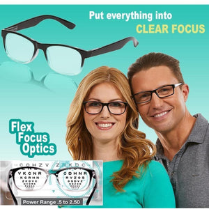 As Seen On TV One Power Readers Eyeglasses Put Everything Into Clear Focus Auto-Adjusting Reading Glasses