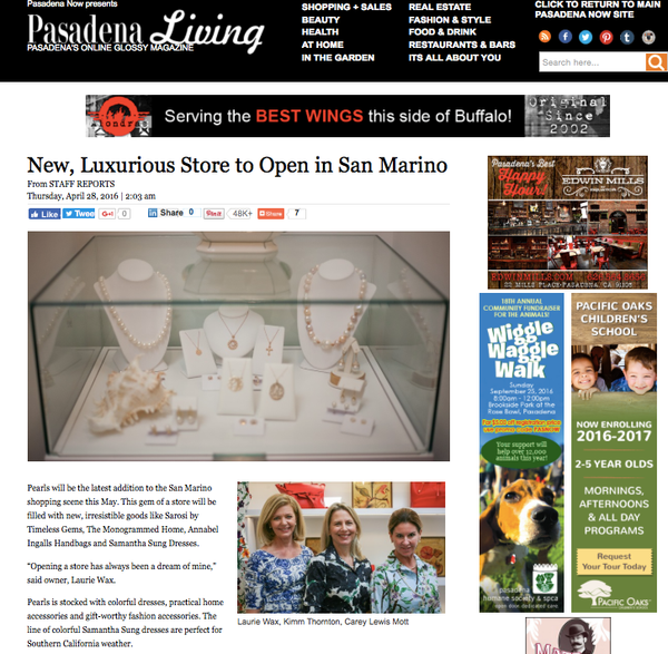 Pasadena Living : New Luxurious Store to Open in San Marino