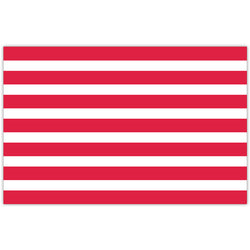Red White Stripe Paper Placemat
