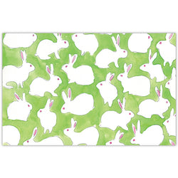 White Bunny Paper Placemats