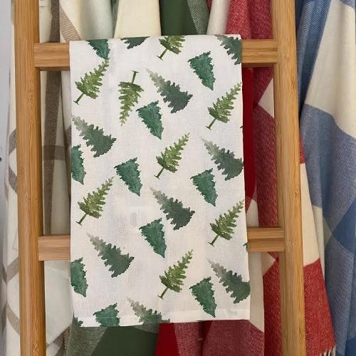 Pine Tree Dish Towel
