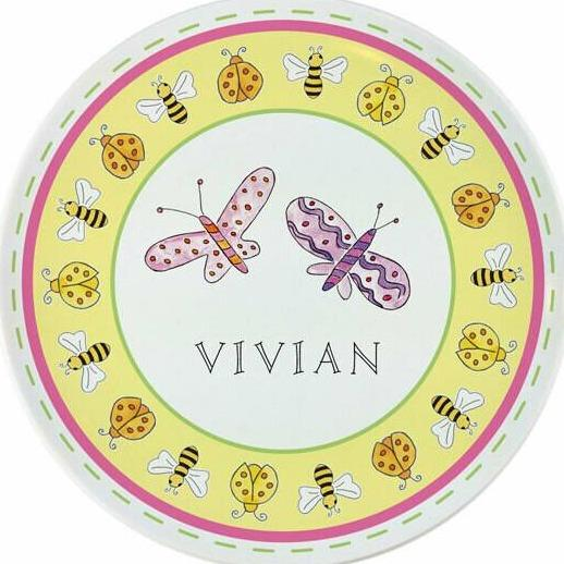 Garden Party Tabletop - Plate - Personalized