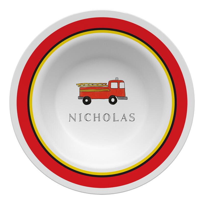 Firetruck Tabletop Collection - Bowl - Personalized