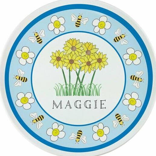 Wildflowers Tabletop Collection - Plate - Personalized