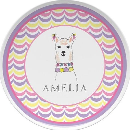 Llama Love Tabletop - Plate - Personalized