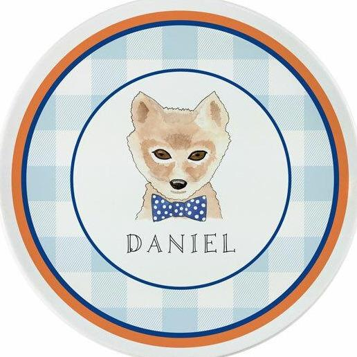 Woodsy Fox Tabletop Collection - Plate - Personalization